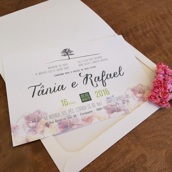 Convite Tânia e Rafael