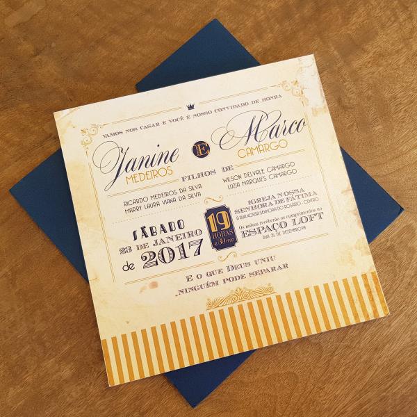 Convite Janine e Marco