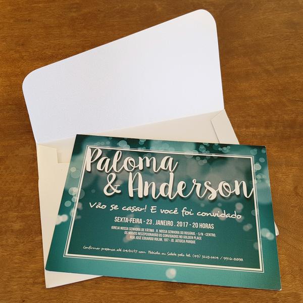 Convite Paloma e Anderson