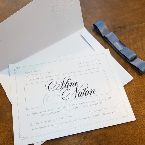 Convite Aline e Natan