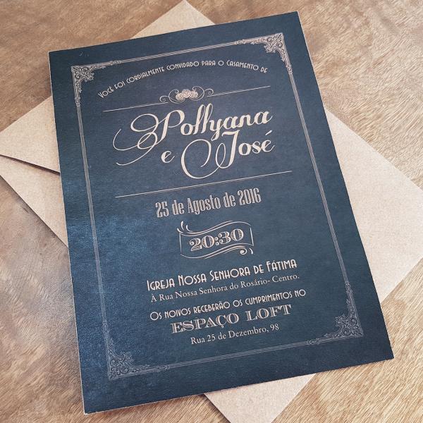 Convite Pollyana e José
